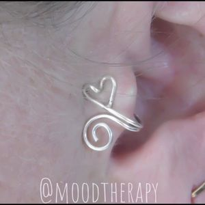 NEW Heart & Spiral Adjustable Tragus Ear Cuff